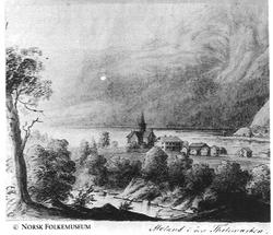 Då Jordalsvinden tok tårnet på Moland kyrkje