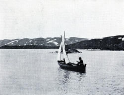 Båttransport på høgfjellet