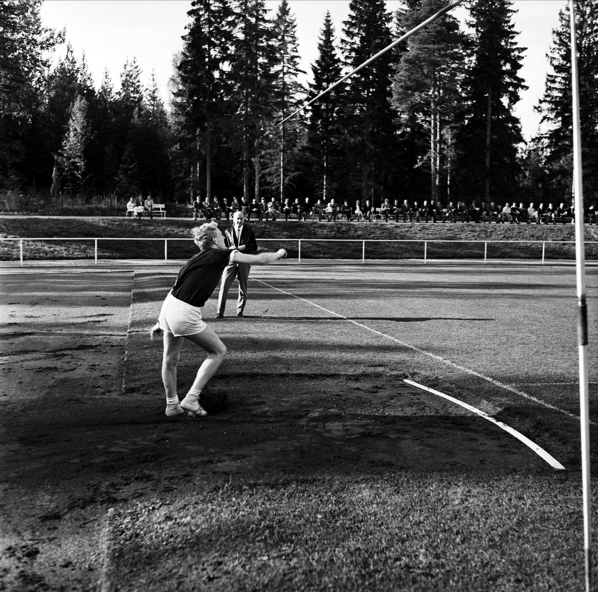 Återinvigning av Vegavallen, spjutkastning, Tierp, Uppland 1967