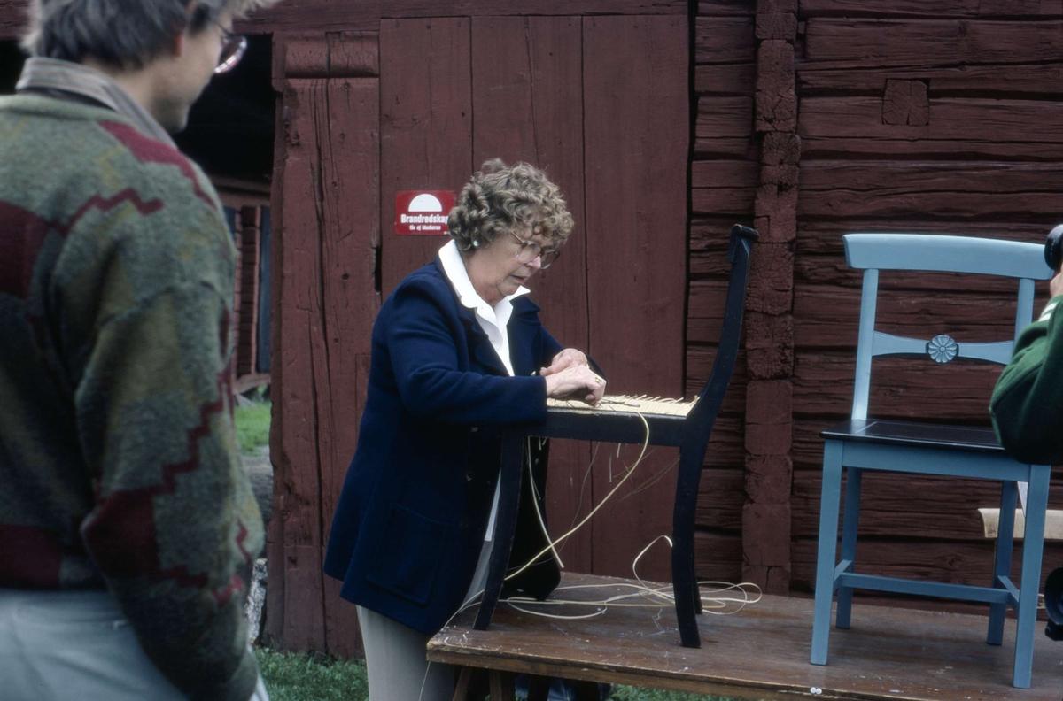 Programverksamhet på friluftsmuseet Disagården, Gamla Uppsala 1985