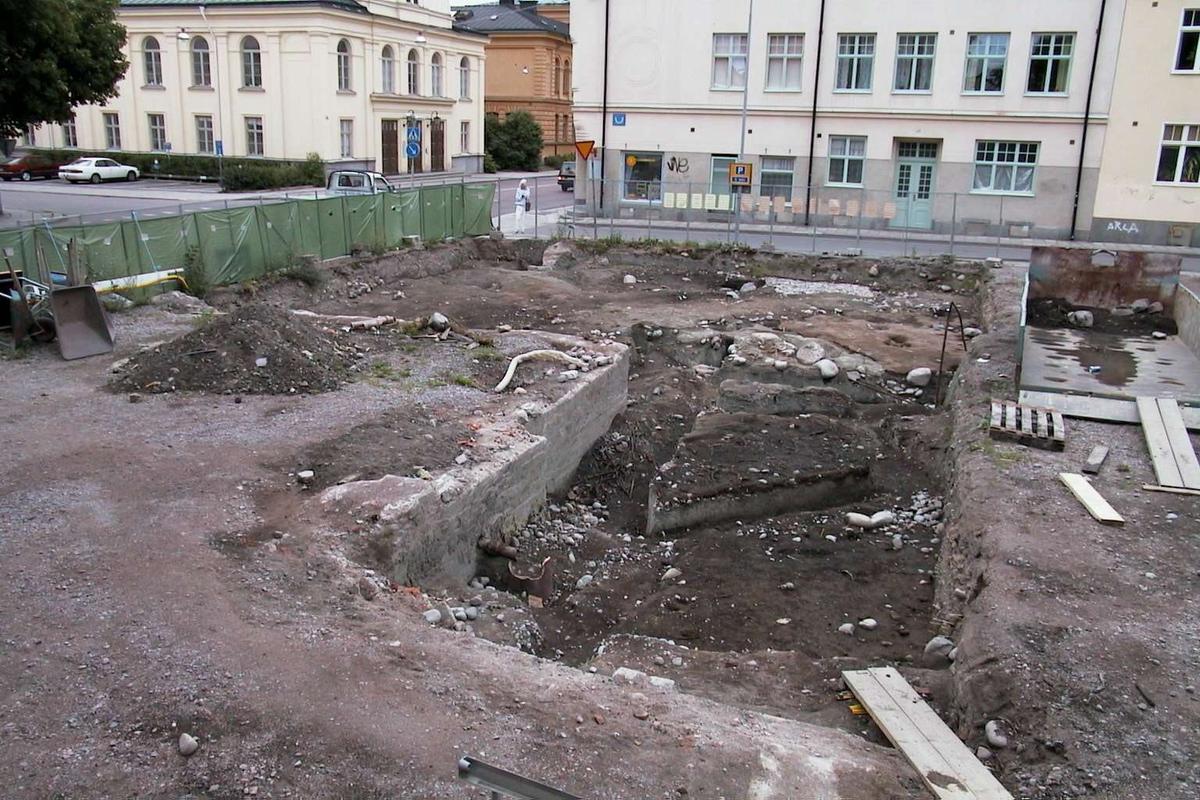 Undersökningsyta, arkeologisk undersökning i kvarteret Örtedalen,  Uppsala 1999