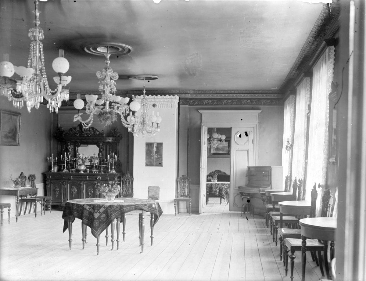 Restaurang Phoenix, kvarteret Domen, Fyristorg, Uppsala, interiör 1934