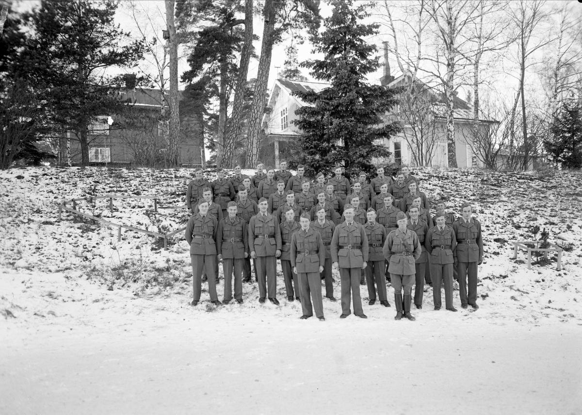 Grupporträtt - 3:e kompaniet, Kungliga Upplands Regemente, november 1941