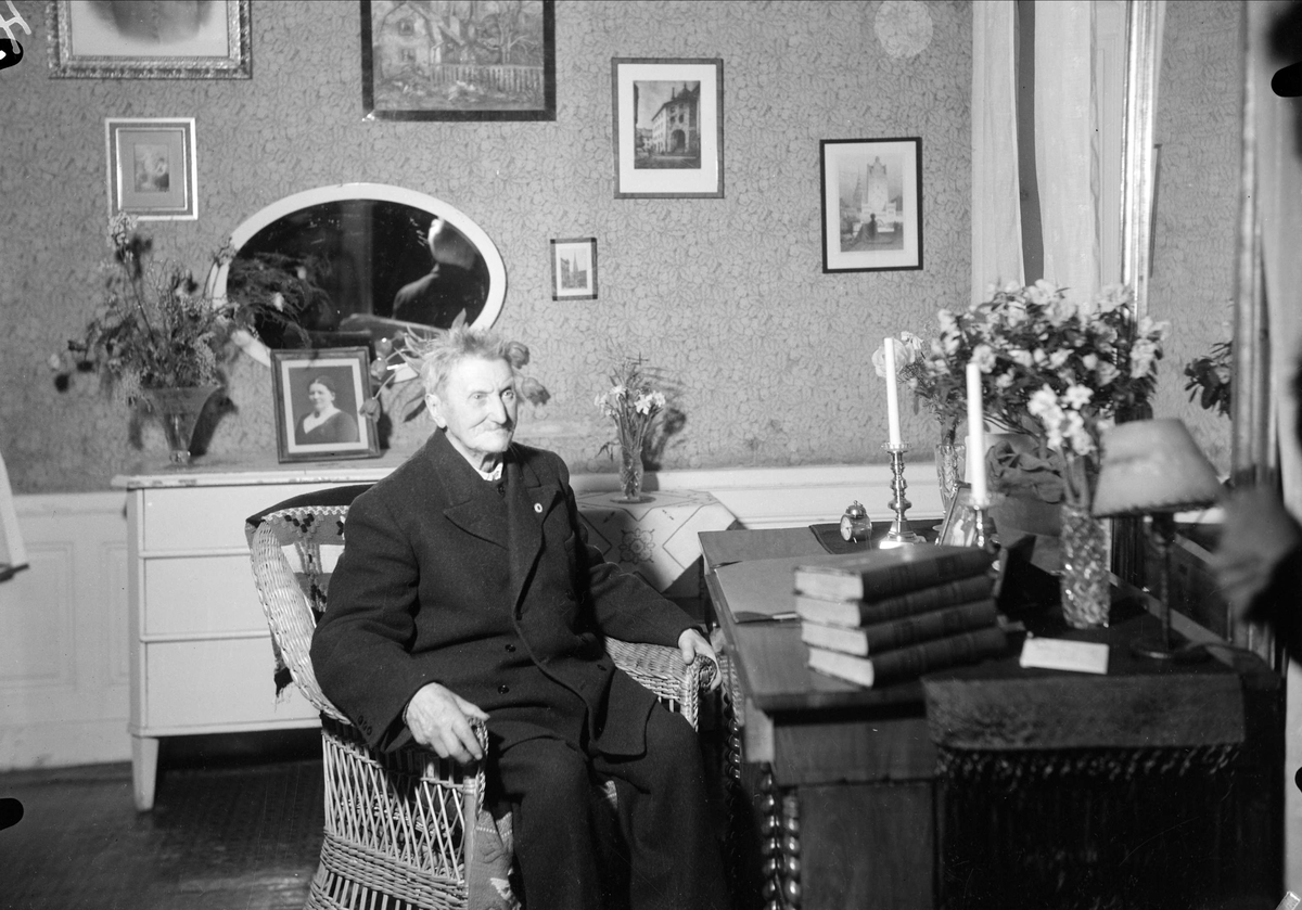 Konditor Erik Ofvandahl i hemmet, Uppsala 1937