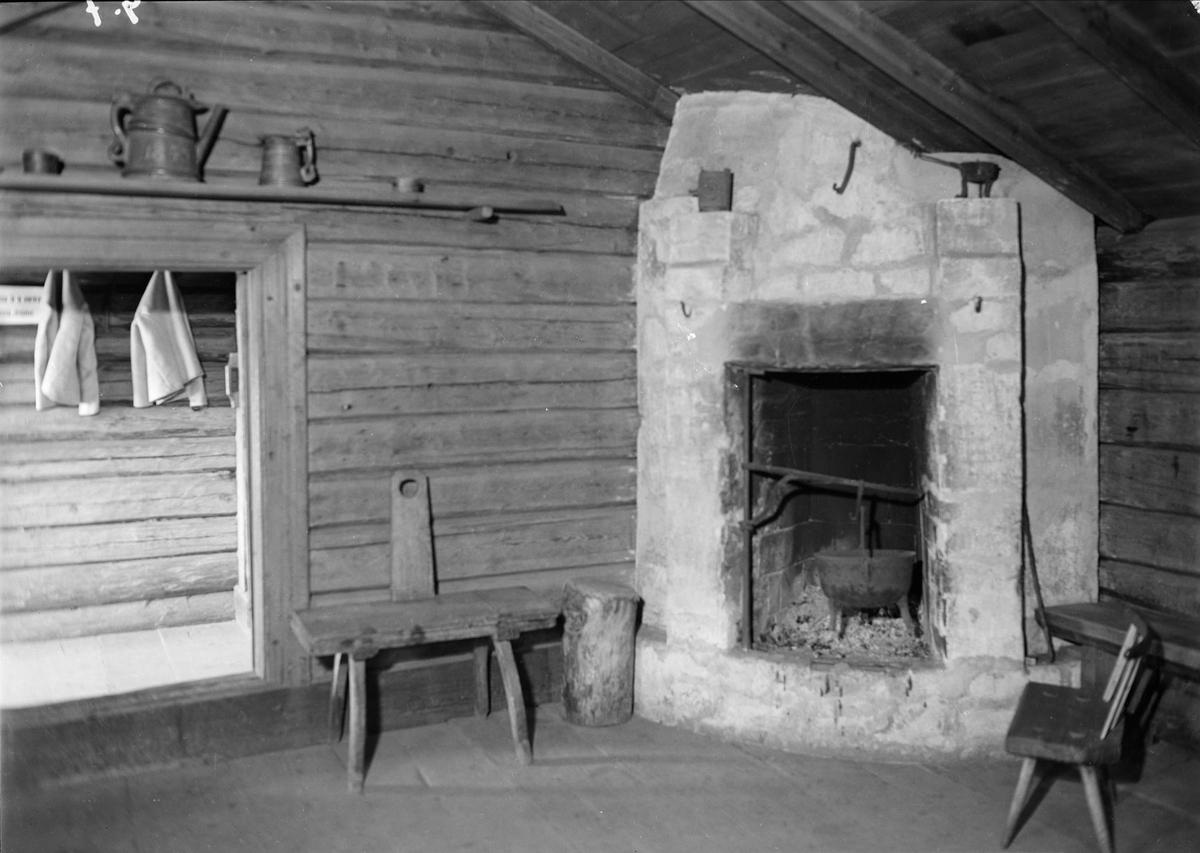 Zorns Gammelgård, Mora, Dalarna, interiör 1939