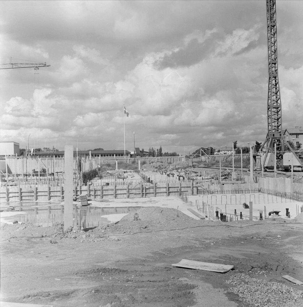 Byggarbetsplats, stadsdelen Svartbäcken, Uppsala