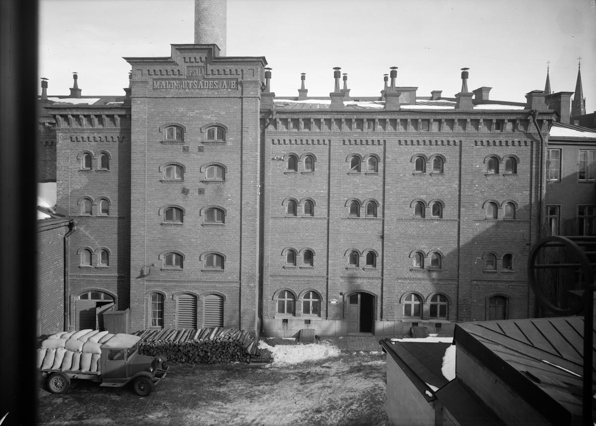 Upsala Malt- & Utsädes AB, kvarteret Hörnet, Uppsala oktober 1933