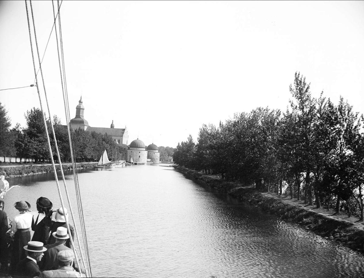 Göta kanal i Vadstena, Östergötland 1938