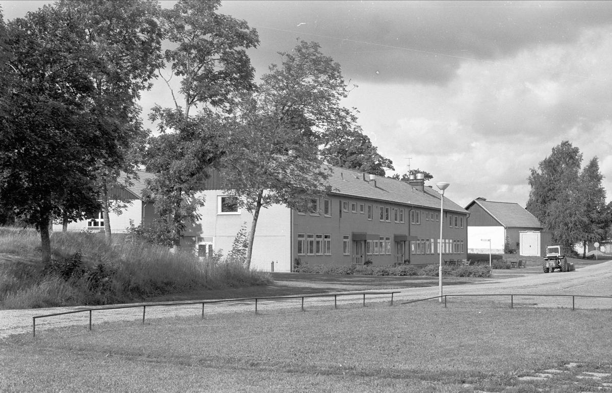 Bostadshus och uthus, Bärby yrkesskola, Broby, Funbo socken, Uppland 1982