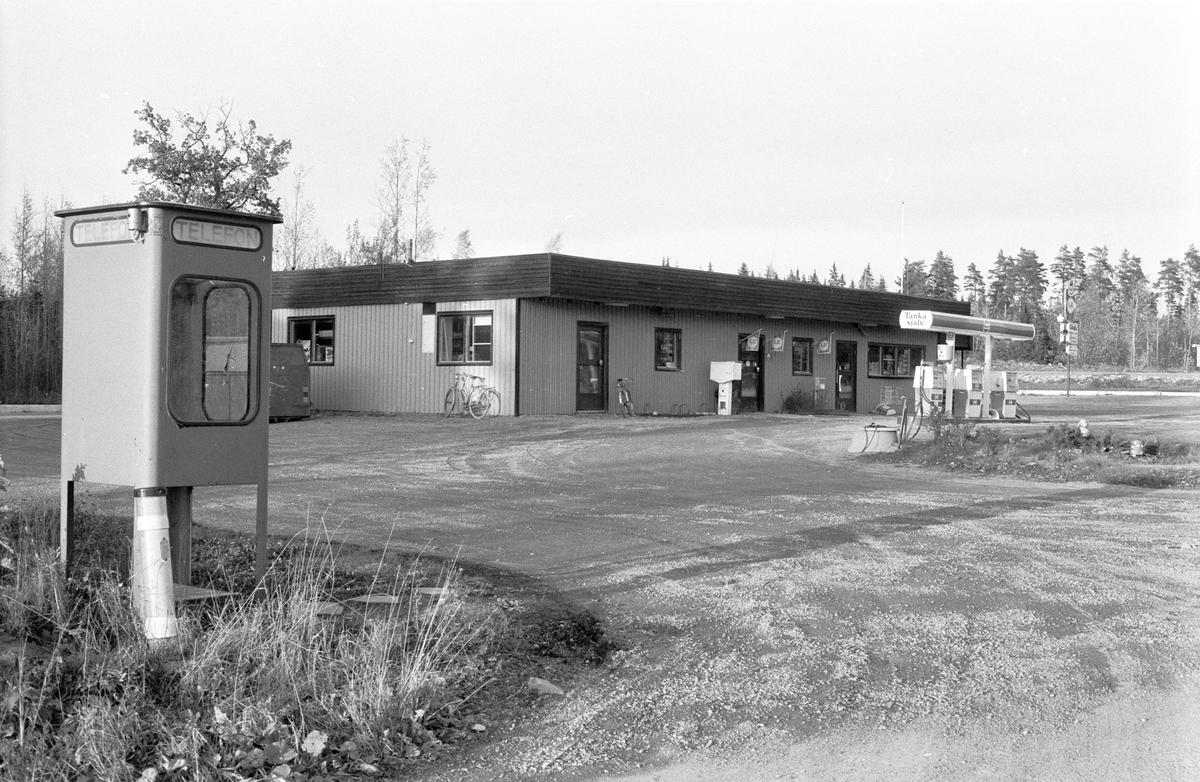 Bensinstation, Blacksta 11:6, Blackstalund, Jumkil socken, Uppland 1983