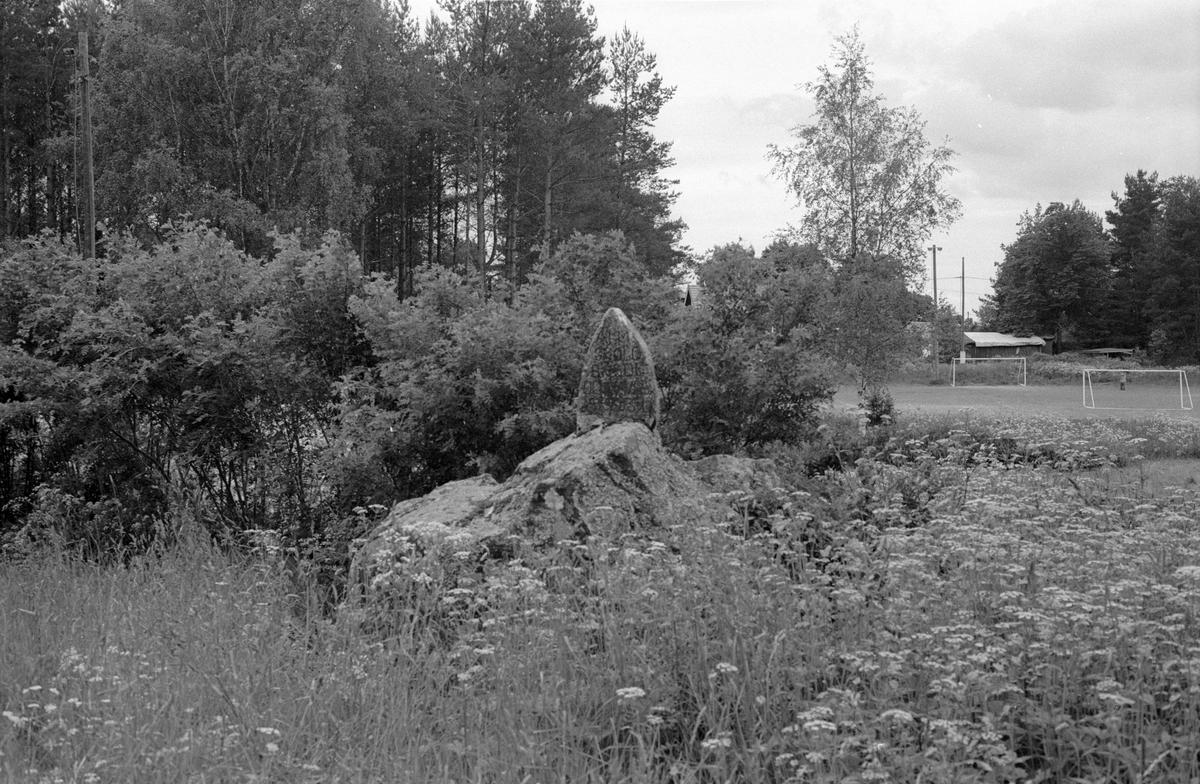 Minnessten, Solna, Sotter, Knutby socken, Uppland 1987