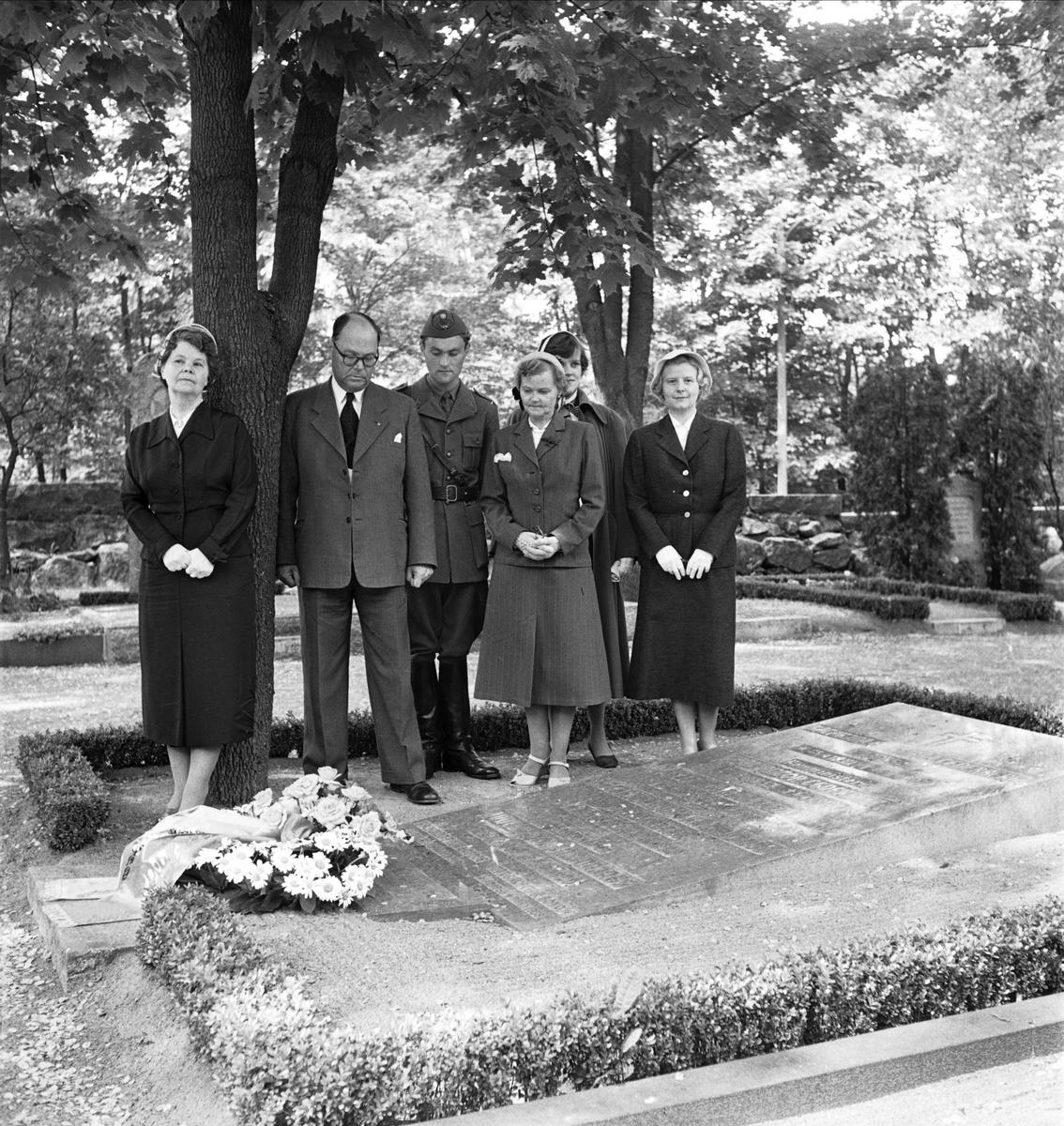 Kamrer Eric Cederberg - kransnedläggning 1954