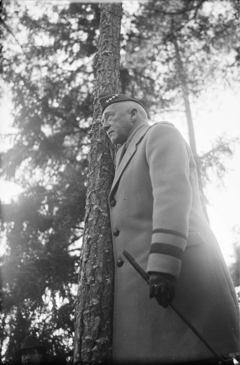 General George S Patton på Uppsalabesök, november 1945