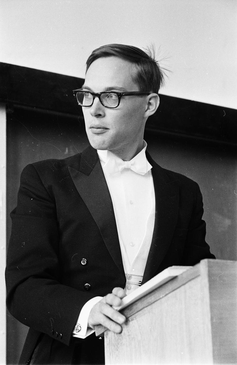 Sten Rentzhog disputerar, Uppsala maj 1967
