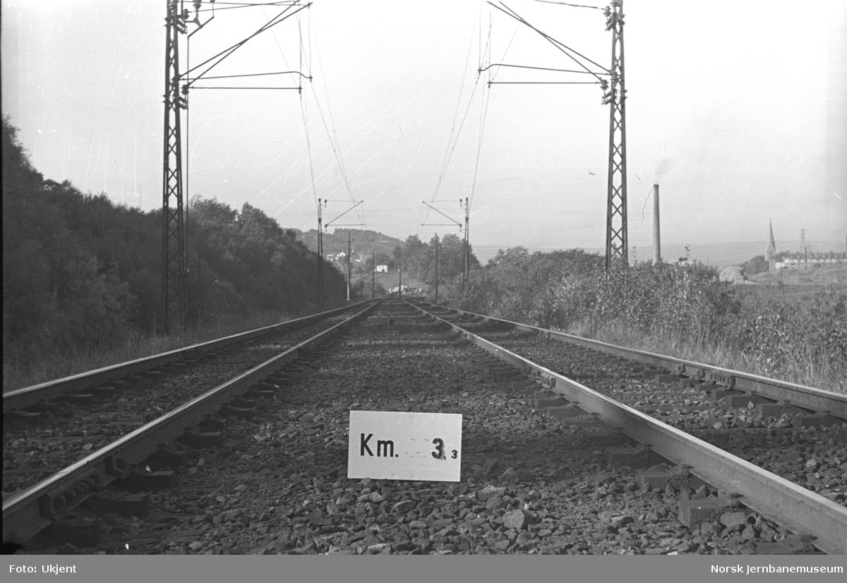 Hovedbanen : linjeføring km 3,3