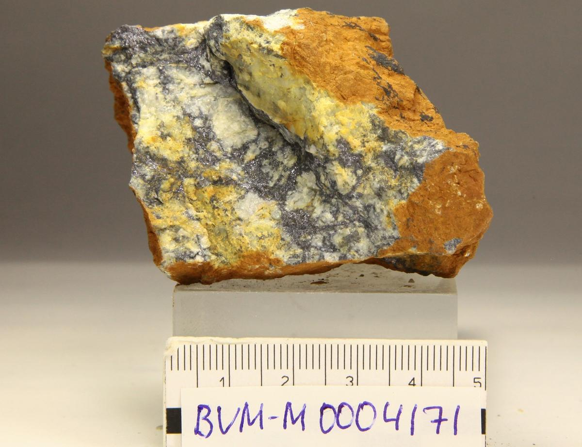 Blyglans. Kapp Mineral, Isfjorden.