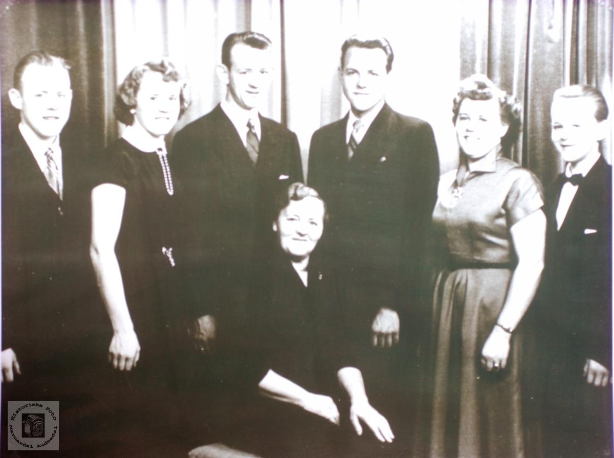 Familien Werdal. Grindheim Audnedal.