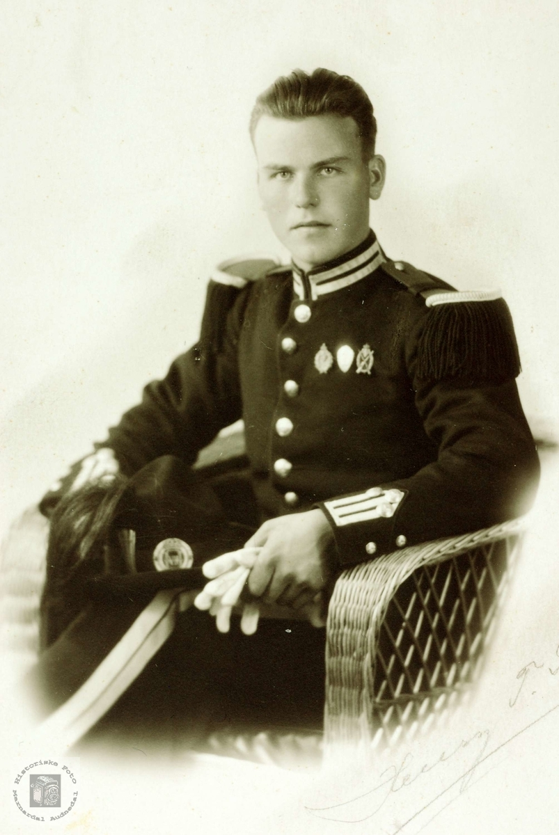 Gardist Torkel Håland. Grindheim Audnedal.