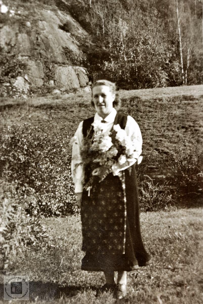 Portrett av Ingrid Hårtveit. Grindheim.
