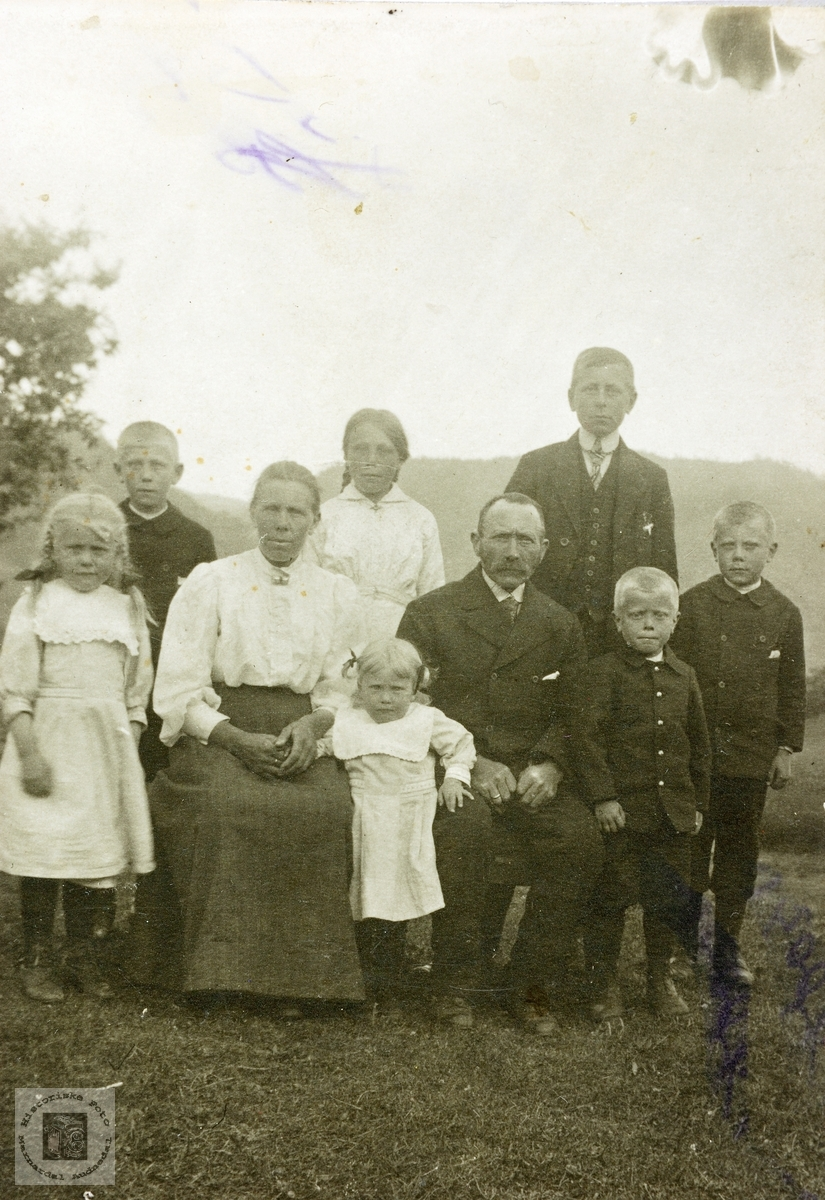Familiebilde fra Gaulevika. Grindheim.