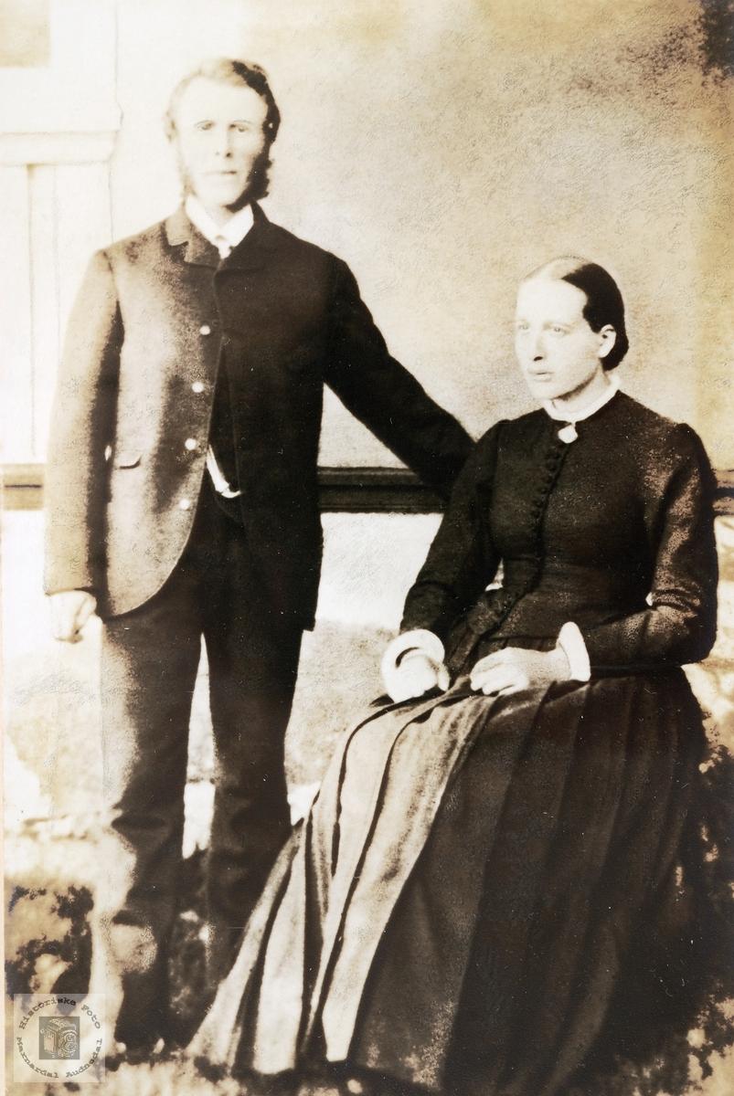 Portrett av ekteparet Gunlef og Berte Byremo. Grindheim.