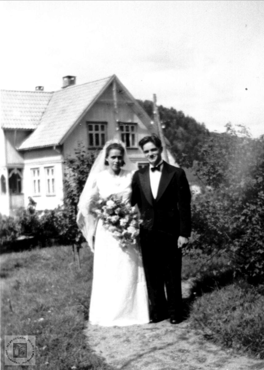 Brudeparet Anne Ødegård og Olav Bakken