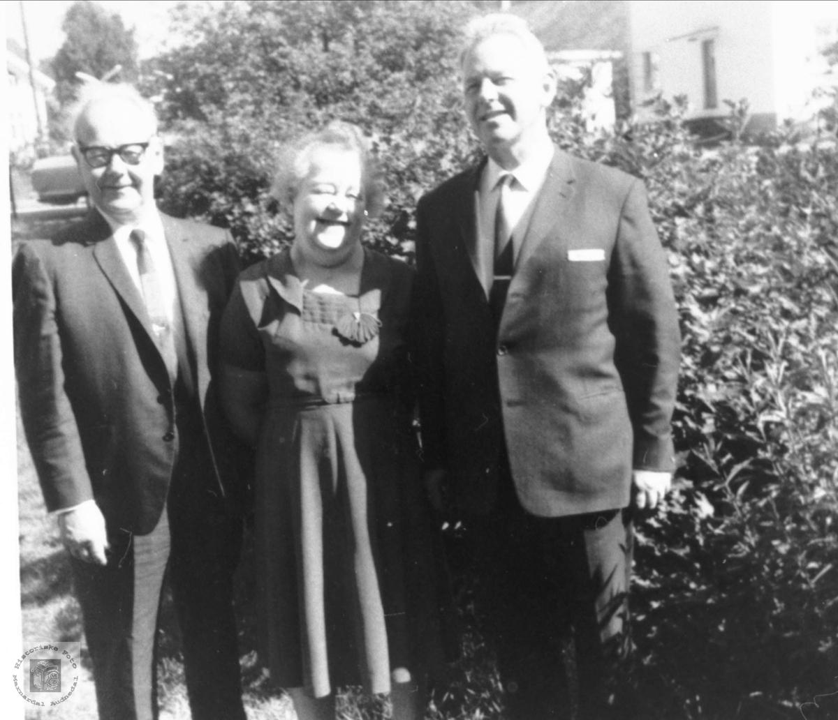 Portrett av tre søsken, Tobias, Tarjerd og Olaf Trygsland, Bjelland