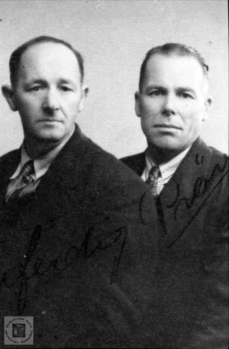 Brødrene Peder og Gunder Laudal.