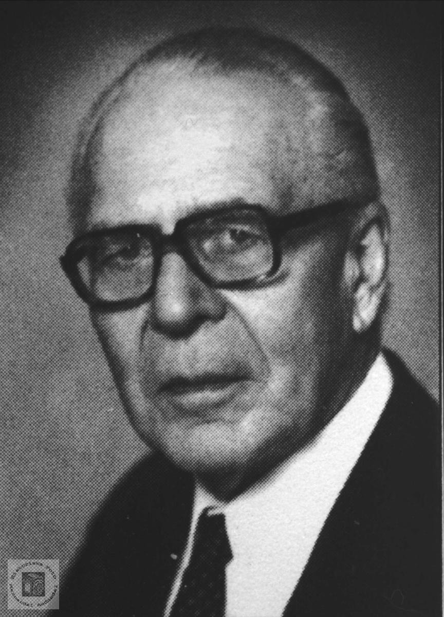 Portrett av Johannes C.B. Irgens.