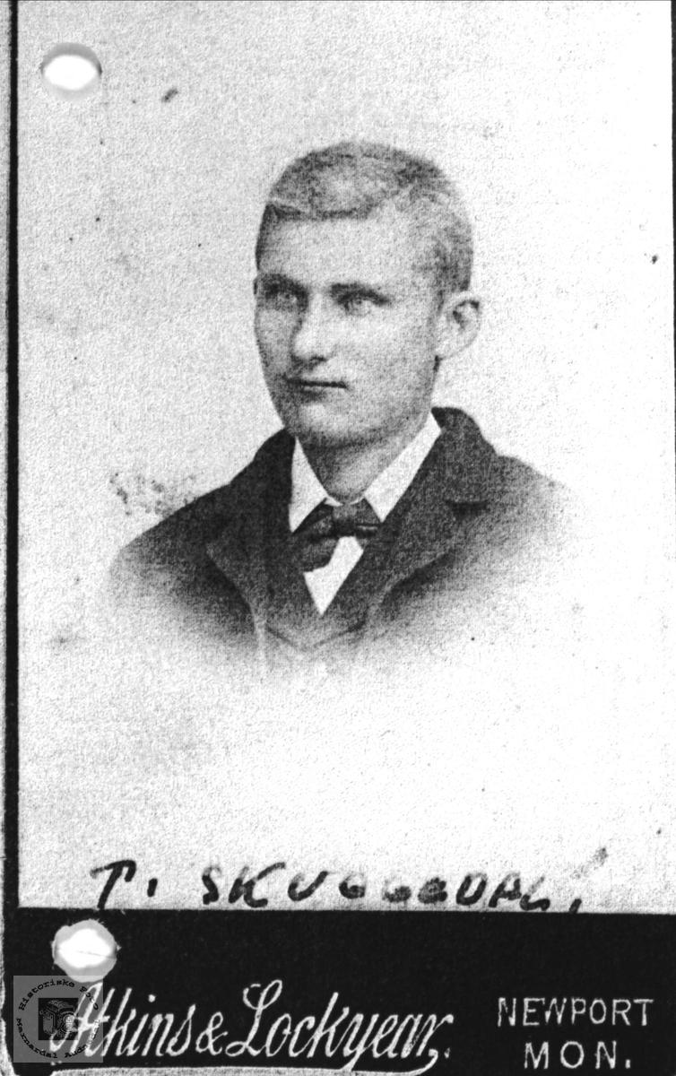 Portrett av T. Skuggedal, Søgne.