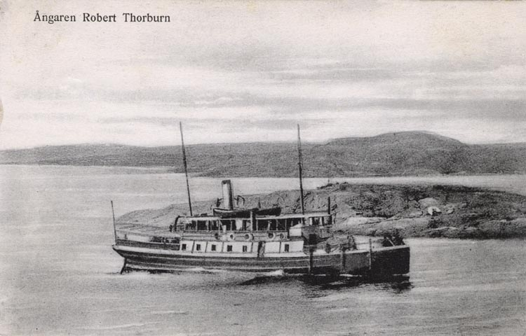 """Tryckt på kortet: """"Ångaren Robert Thorburn."""""""
