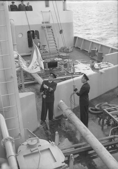 Flaggskifte på fartyg 139 M/T Faunus.