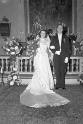 Kyrkbröllop i december 1949