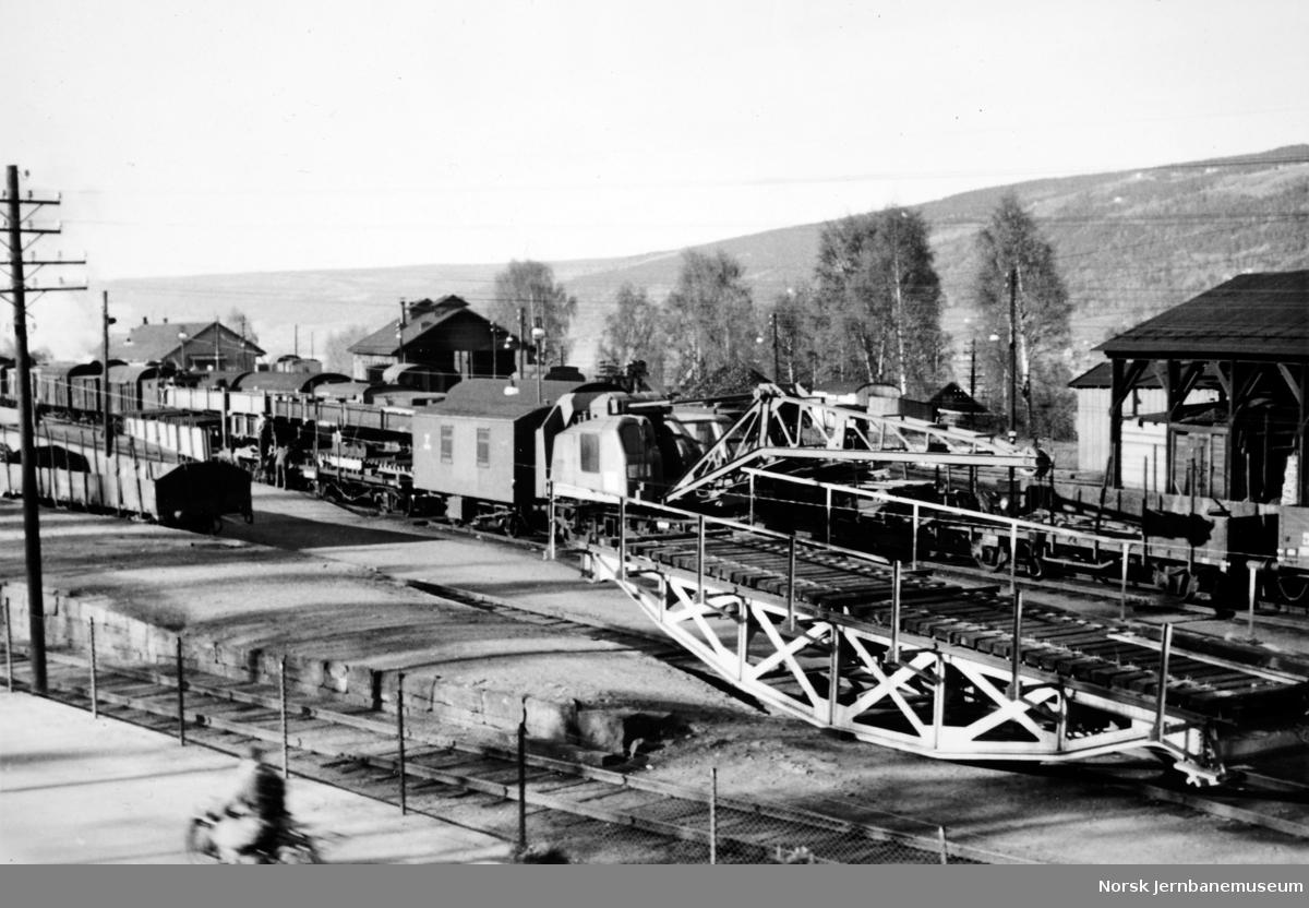 Viadukt over Bryggeveien, Lillehammer - utkjøring av nytt spenn 1