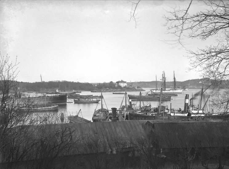 """Enligt fotografens noteringar: """"Valdemars Udde Stockholm taget af Selma Sahlberg omkr. år 1910."""""""