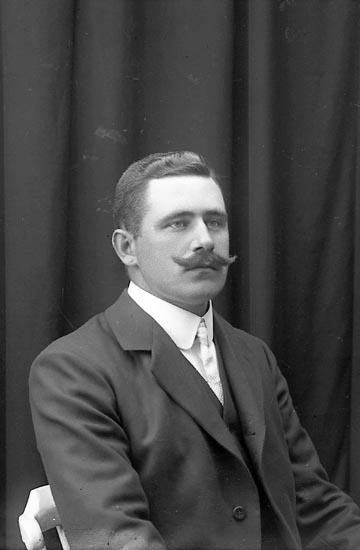 """Enligt fotografens journal Lyckorna 1909-1918: """"Hilmer, Harry Ljungskile""""."""