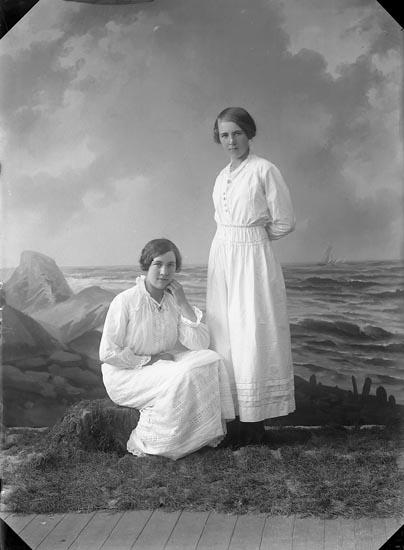 """Enligt fotografens journal nr 3 1916-1917: """"Johansson, Alice Bräcketorp Spekeröd""""."""