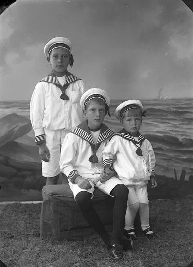 """Enligt fotografens journal nr 2 1909-1915: """"Holmqvist, Fru Gbg""""."""