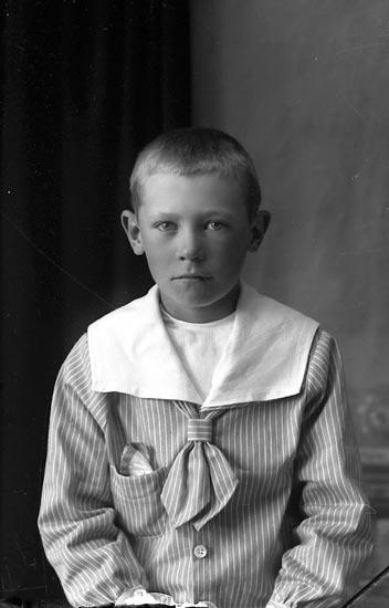 "Enligt fotografens journal Lyckorna 1909-1918: ""Sven Mattsson Gusseröd Ljungskile""."