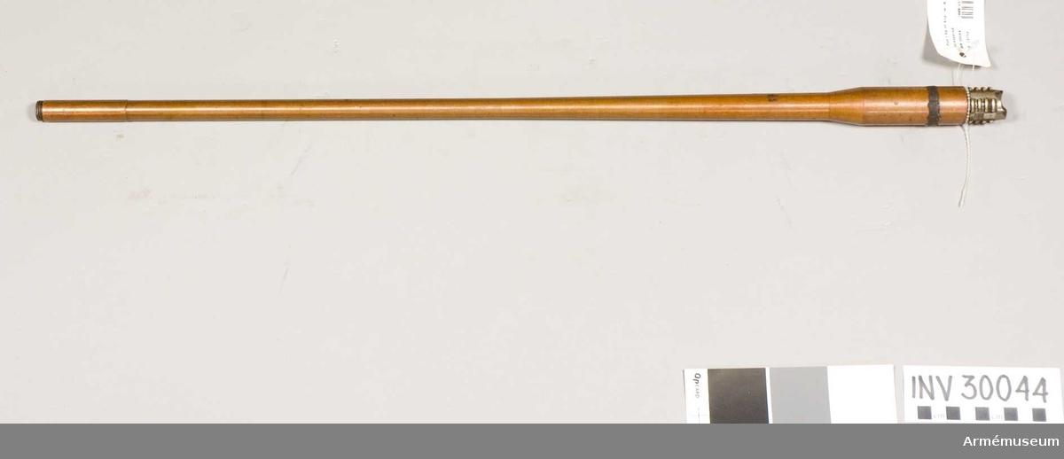 Grupp E II. Förkopprad gevärspipa till  till kulsprutegevär eller kulspruta.