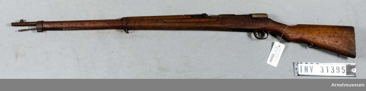 Gevär m/1907, infanteri, Japan.Grupp E II.Mekanism och magasinsbotten fattas.