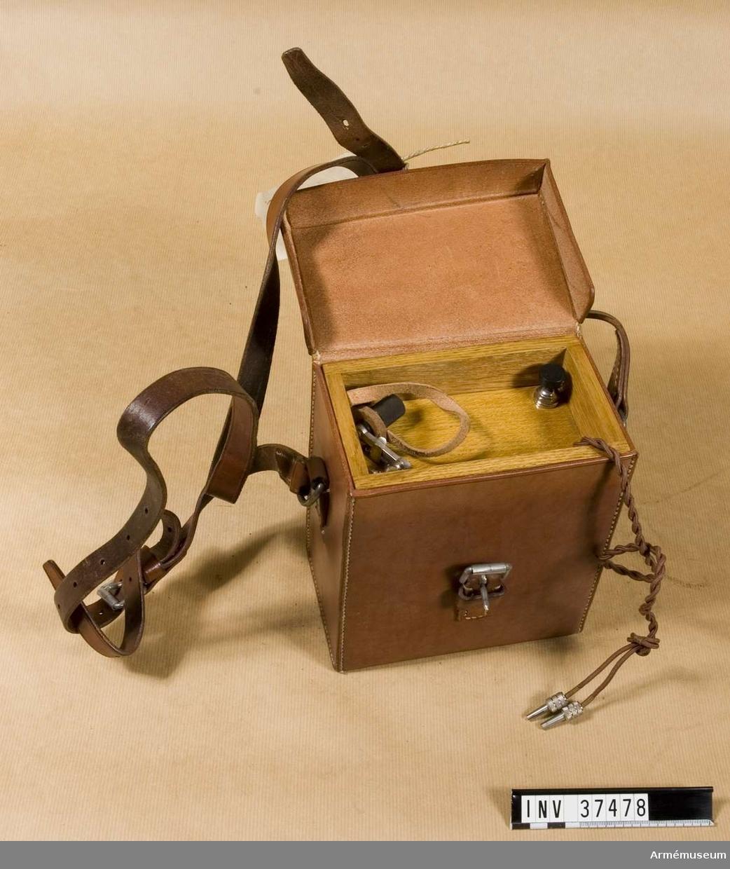 Samhörande nr 37478-9, induktor, väska. Grupp H I.
