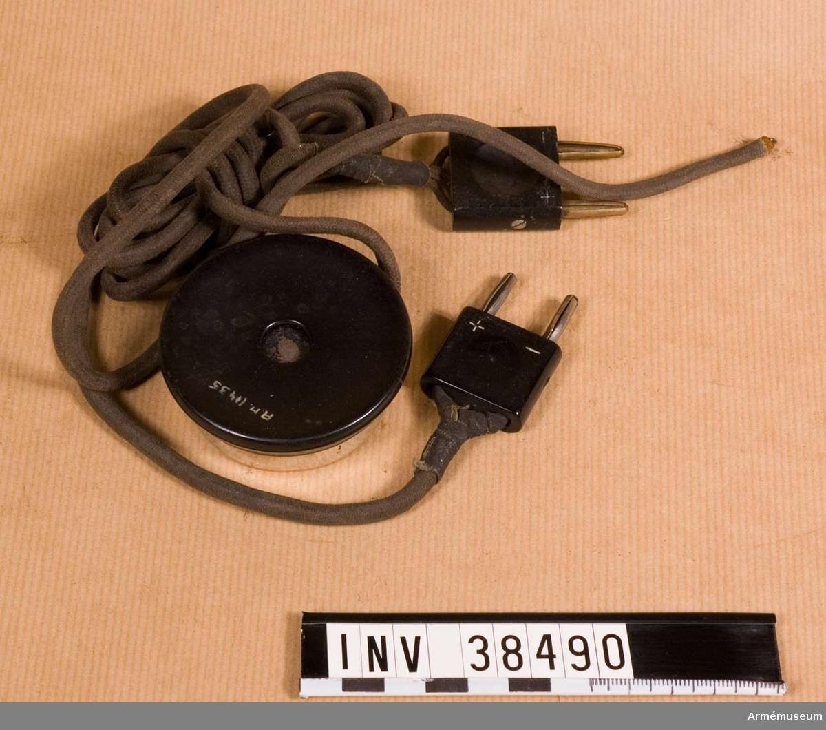 Grupp H II.  Av samma typ som den som användes i flyghuva AM.038501.