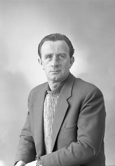 "Enligt fotografens journal nr 9 1958-: ""Abrahamsson, Herr Gunnar Stenungsund""."