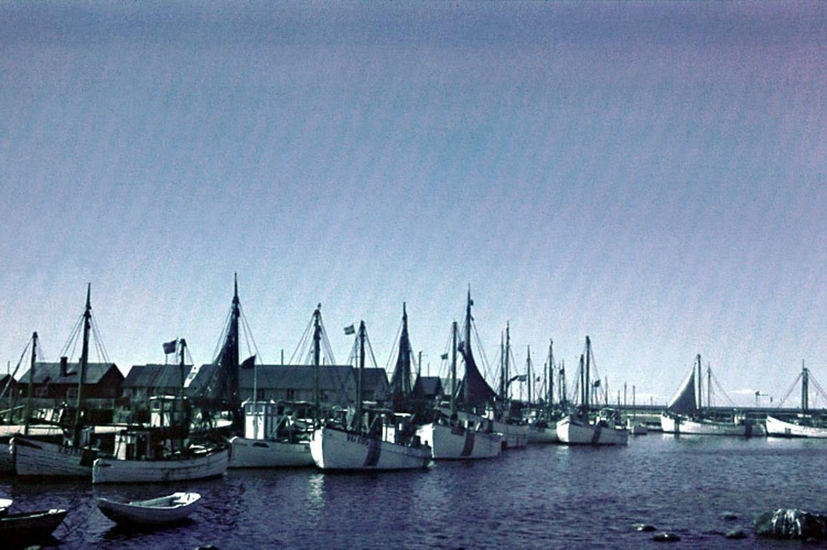 Enligt noteringar: 70 st. ramade dia. + 5 st. burkar med oramade dia. Båtar, Varv, Hav, Människor.  Film nr. 127