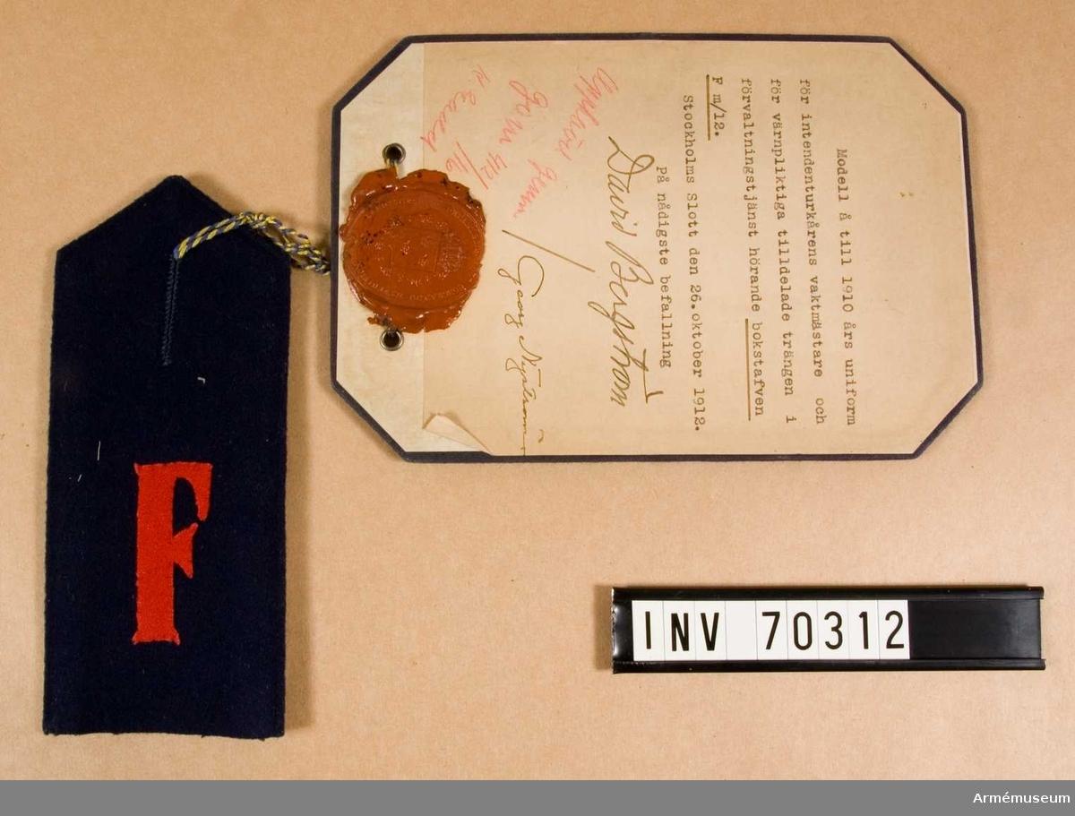 Grupp C I. Fastställd 26.10.1912.