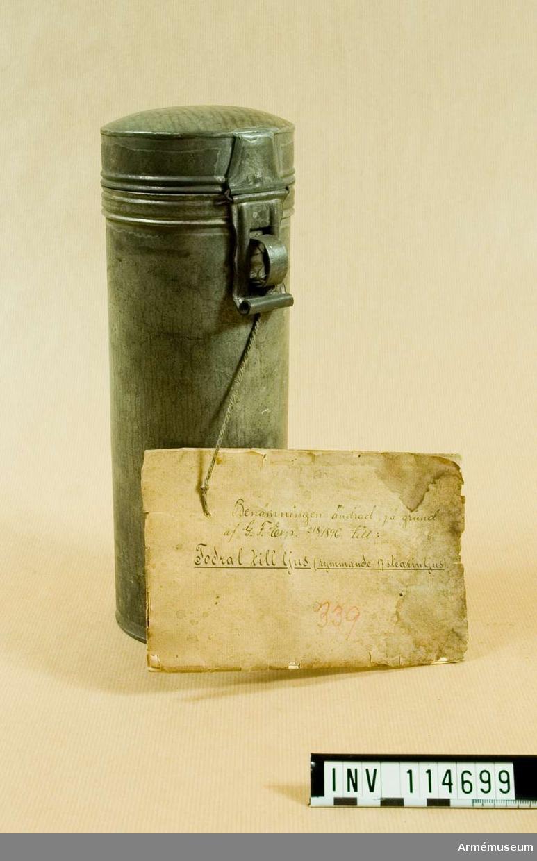 Fodral m/1867 för ljus