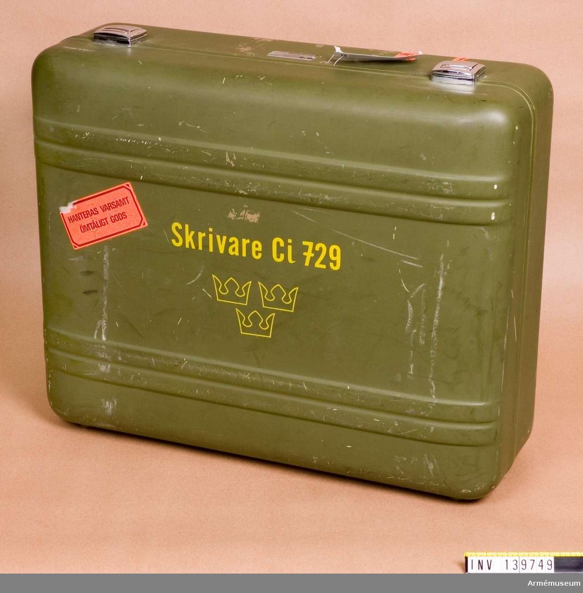 Skrivare till CI 729 fälthaubits 77A. Il.