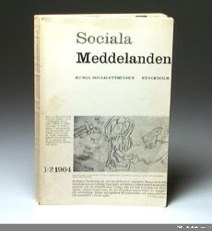 Sociala Meddelanden nr 1-2 1964. Kungliga socialstyrelsen. Stockholm.