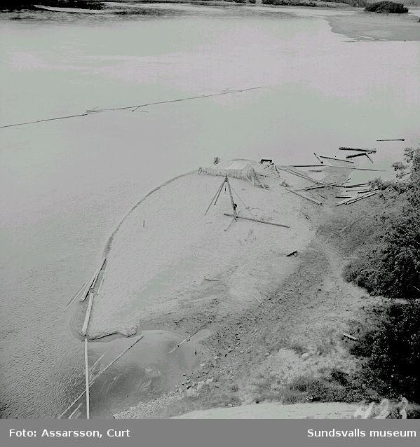 Laxfiskeplats vid Krånge sedd från Kävstabron.